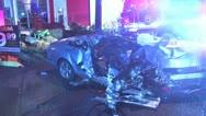 Stock Video Footage of Car Crash