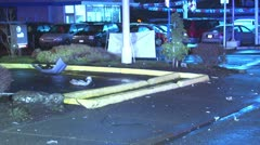 Car Cradh debris - stock footage