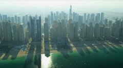 Aerial view Jumeirah Beach, Dubai Stock Footage