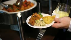 Indian Delight | wedding buffet Stock Footage