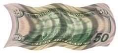 fifty dollar flag - stock illustration
