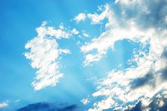 Beautiful dinamic sky with nice colors Stock Photos