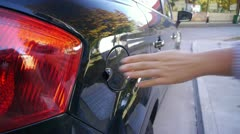 Stock Video Footage of Refueling car