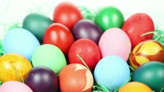 Hand painted Easter eggs Stock Footage
