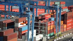Cargo Containers (Timelapse) Stock Footage