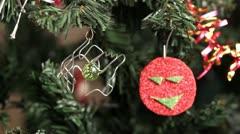 Handmade Xmas ornaments Stock Footage