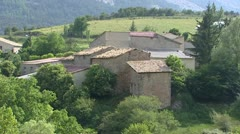 Small village of Chaudon-Norante in mountainous area Stock Footage
