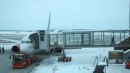 Stock Video Footage of Boarding Airport Winter