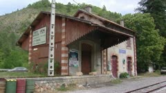 Abandoned station building, chaudon, France Stock Footage