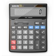 business calculator on white isolated background. - stock illustration