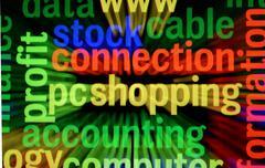 Pc shopping Stock Illustration