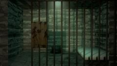 Old Prison Cell Animation Stock Footage