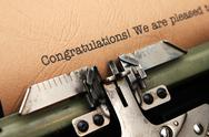 Stock Illustration of congratulation