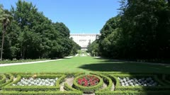Madrid Royal Palace gardens 60 - stock footage