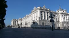 Madrid Royal Palace side - stock footage