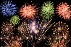 spectacular fireworks - stock photo