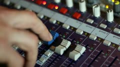 Engineer on hand mixer Stock Footage