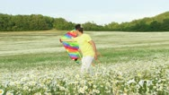 Flying a kite Stock Footage