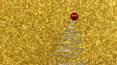 Red on gold Stock Footage