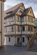 haus der vier gekrönten in wertheim - stock photo