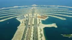 Aerial Golden Mile, Palm Jumeirah, Dubai Stock Footage