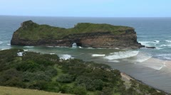 Hole in the Wall in the Transkei Stock Footage