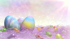Easter Title Background - stock footage