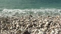 Sea wash zoom in audio Stock Footage