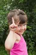 Naughty little girl Stock Photos