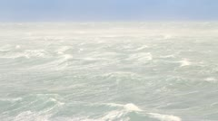 Hurricane winds in the Arctic ocean Stock Footage