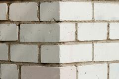 The angle of the brick buildings Stock Photos