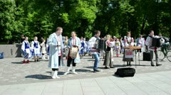 Represent ukrainian folk music dance and sing Stock Footage