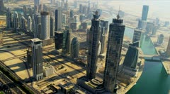 Aerial view Burj Khalifa,  Dubai Stock Footage