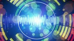 Audio waveform equalizer pulsating loopable background Stock Footage