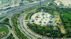 Aerial view Zabeel entertainment park, Dubai  Stock Footage