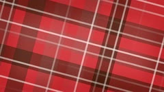 Red scottish checked fabric loopable background Stock Footage