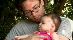 Father with his Cute Little Baby Girl 2 Stock Footage
