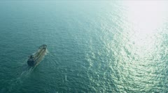 Aerial view of Cargo Freighter Hong Kong, Stock Footage