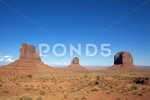 Stock photo of famous landscape of monument valley