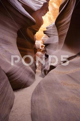 Stock photo of famous antelope canyon