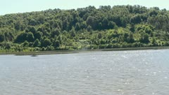View of Santuario Naturalez from a boat Stock Footage