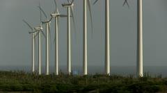 Windmills in Aruba Stock Footage