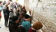 Stock Video Footage of woman pray at western wall jerusalem