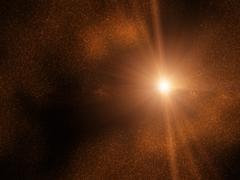 Space - starfield - sun - stock illustration
