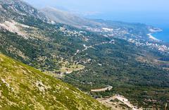 Summer coast view from llogara pass (albania) Stock Photos