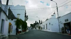 Saint Cosma and Damiano Basilica in Alberobello, Italy Stock Footage