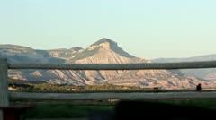 Mountain Fence - stock footage