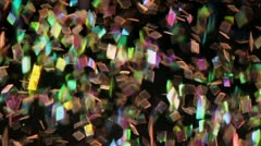 Colorful Glitter in Water Stock Footage