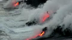 Hawaiian Lava Flow - FULLHD - stock footage