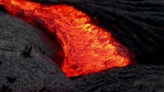 Stock Video Footage of Hawaiian Lava Flow - FULLHD